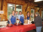 Serving strawberries at the Plymouth Strawberry Festival