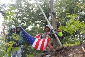 Flag Raising Ceremony on 9/7/11, Route 100, by Jim Nielsen