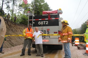 Flag Raising Ceremony on 9/7/11, Route 100, by Jim Nielsen