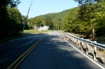9:14AM 9/2/11, Route 100A looking south approaching the Farm Brook Motel, Plymouth, by Jen and Jay Flaster