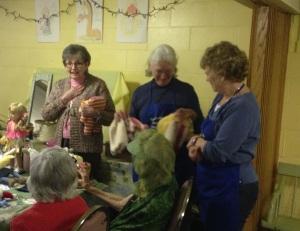 Reach Out Luncheon - Carolyn Scott, Kathy Lynds, Betty Aubin with crafts