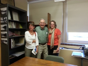 Jarvi Family at the Historical Society Open House - Lauren, Bill, &  Kristen. Photo by Melissa Lynds.