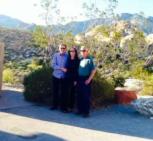 Ted & Lisa Sobieski at Red Rock Canyon, with Tom