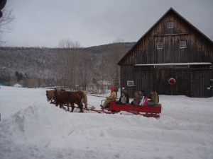 Sleigh ride at Calvin Coolidge Historic Site last Sunday