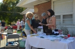 Ottauquechee Health Foundation's Sherry Thornburg (left) with other local health service providers