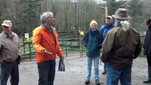 Pieter explaining composting
