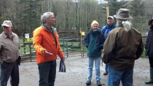 Pieter explaining composting